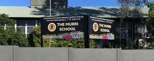 The-Murri-School-Road-Sign-with-Frame-and-Posts_200x500