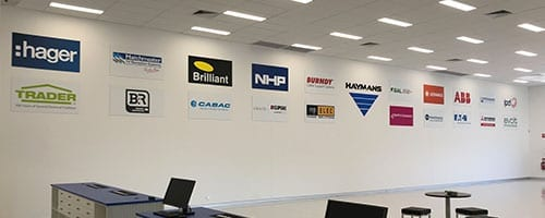 Haymans-Electrical-Oxenford-Suppliers-Wall-Reception_200x500