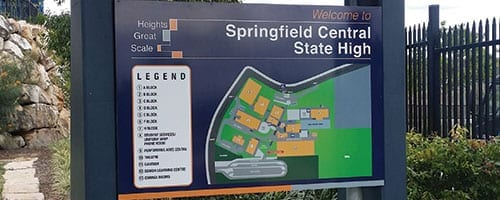 Springfield-Central-School_Map-Sign_200x500